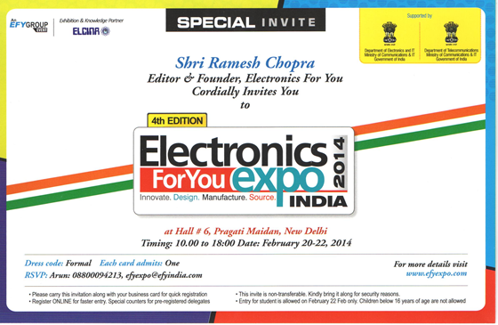 Electronics Expo Invitation