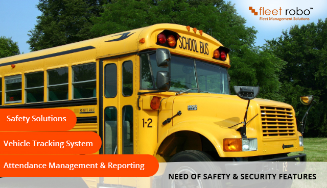 safety and security features in School Bus